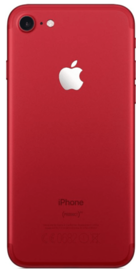 Refurbished iphone 7 rood achterkant