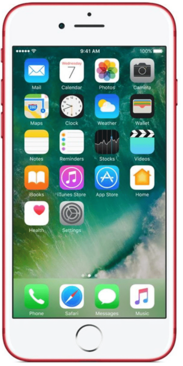 Refurbished iphone 7 rood voorkant