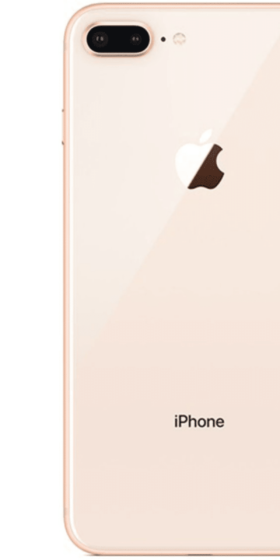 Refurbished iPhone 8 Plus Goud Achterkant