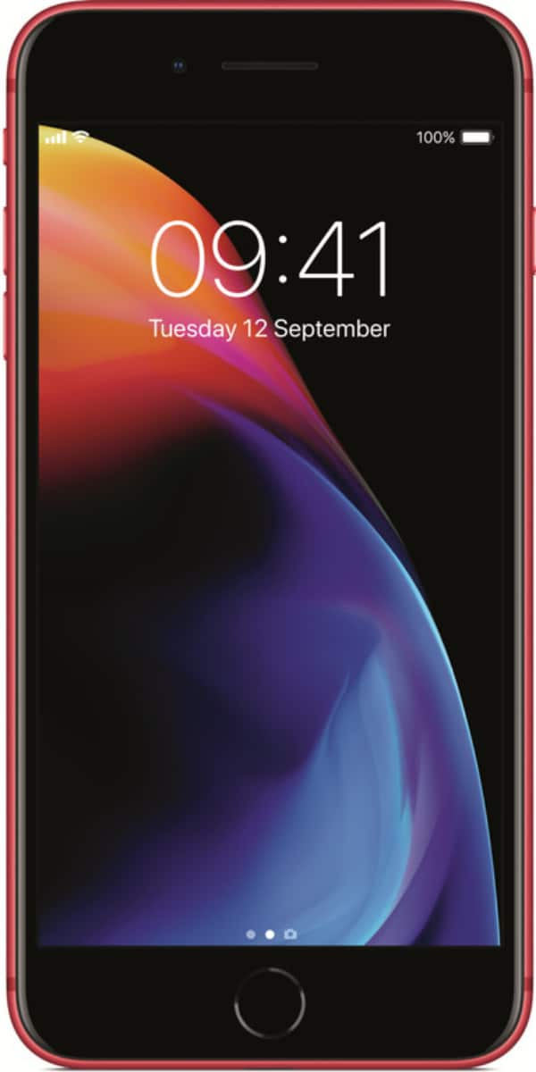 Refurbished iphone 8 plus 256GB rood voorkant