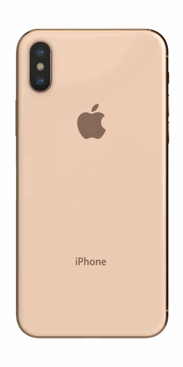 Refurbished iphone Xs 256gb goud achterkant