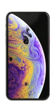 Refurbished iphone Xs 256gb silver voorkant