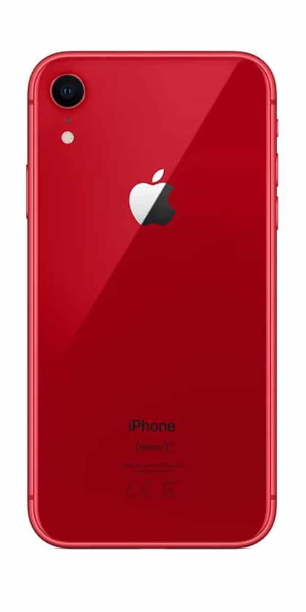 Refurbished iphone Xr 64gb rood achterkant