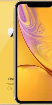 Refurbished iPhone Xr Geel voorkant en achterkant