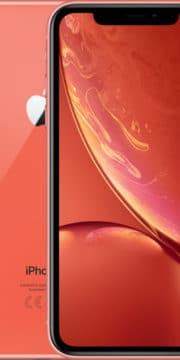 Refurbished iPhone Xr Koraal voorkant en achterkant