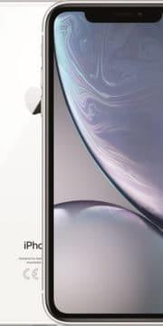Refurbished iPhone Xr Wit voorkant en achterkant