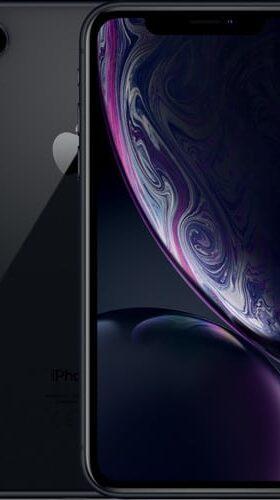 Refurbished iPhone Xr Zwart voorkant en achterkant