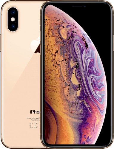 Refurbished iPhone Xs goud voorkant en achterkant