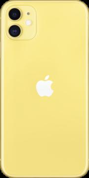 Refurbished iPhone 11 128gb geel achterkant