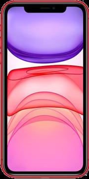 Refurbished iPhone 11 128gb rood voorkant