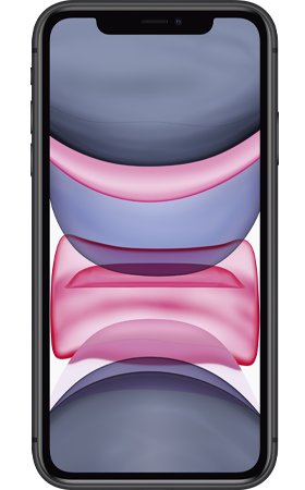 Refurbished iPhone 11 128gb zwart voorkant