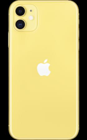 Refurbished iPhone 11 64gb geel achterkant