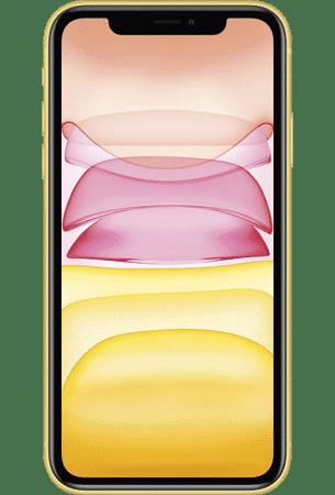 Refurbished iPhone 11 64gb geel voorkant
