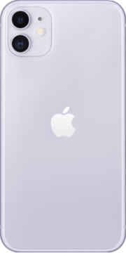 Refurbished iPhone 11 64gb Paars achterkant
