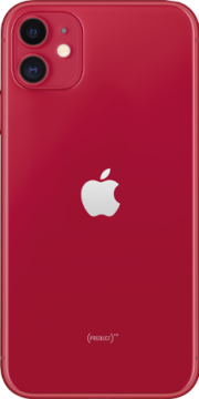Refurbished iPhone 11 64gb rood achterkant