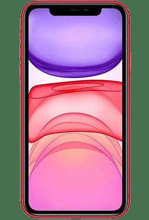 Refurbished iPhone 11 64gb rood voorkant