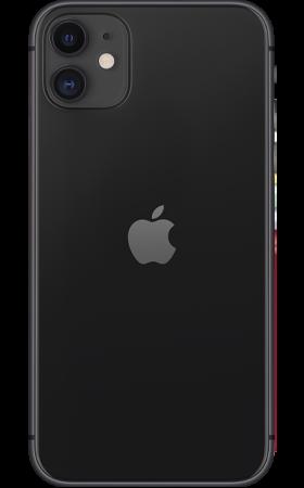 Refurbished iPhone 11 64gb zwart achterkant