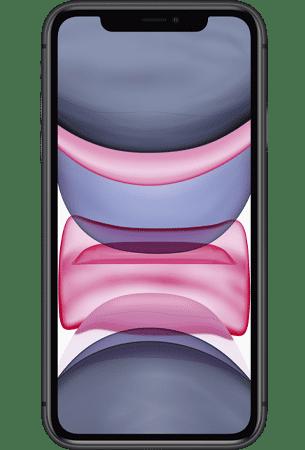 Refurbished iPhone 11 64gb zwart voorkant